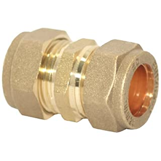 Plumb-Pak Compression Straight Coupler 15mm - Pack of 5