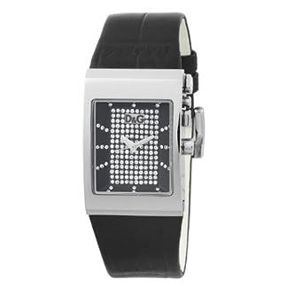 Dolce & Gabbana tension DW0154 – Reloj de mujer de cuarzo, correa de piel color negro