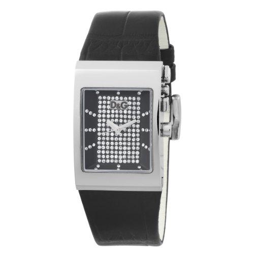 D & G Dolce & Gabbana Women's Watch Logoside Anthracite Dial Blk Strap DW0154