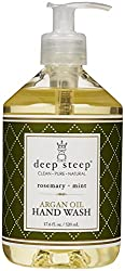 Deep Steep Argan Liquid Hand Wash - Rosemary Mint - 17 oz