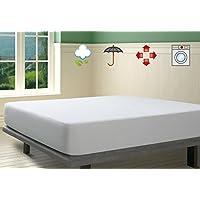 Savel, Protector de colchón Impermeable, Rizo 100% algodón - Antialérgico, 135x190cm (para camas de 135) | Cubrecolchón