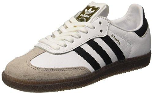 adidas Damen Samba OG Sneakers, Beige (Ftwr Whitecore Blackgum)