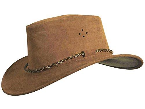 57-60 Cowboyhut Strohhut Westernhut Hut mit Hutband schwarz//wei/ß geflammt Gr