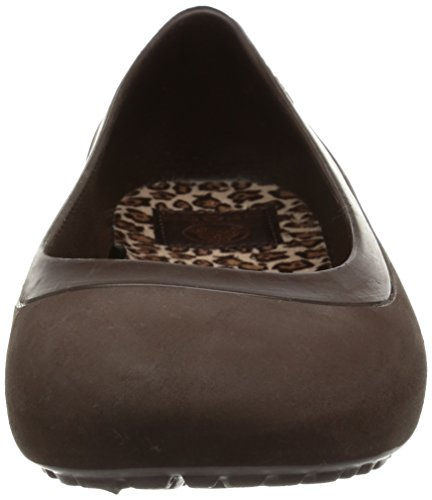 Crocs - Mammoth Leopard Line, Ballerine Donna Marrone (Mahogany/Mahogany)