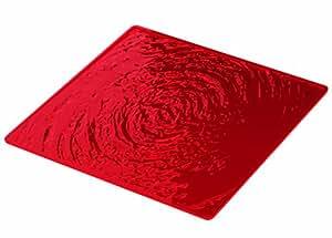 Guzzini 24910565 Dessous d'Assiette 32 x 32 cm Rouge Transparent 0,47 x 32 x 32 cm