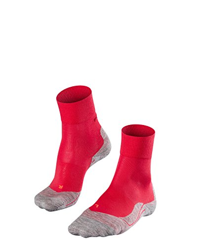 FALKE Damen Socken Laufsocken RU4 - 1 Paar, Gr. 37-38, rot, feuchtigkeitsregulierend, Sportsocken Running
