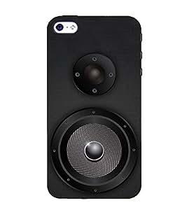 Print Masti Designer Back Case Cover for Apple iPhone 5 (Party Masti Spaker Mike Surr wave)