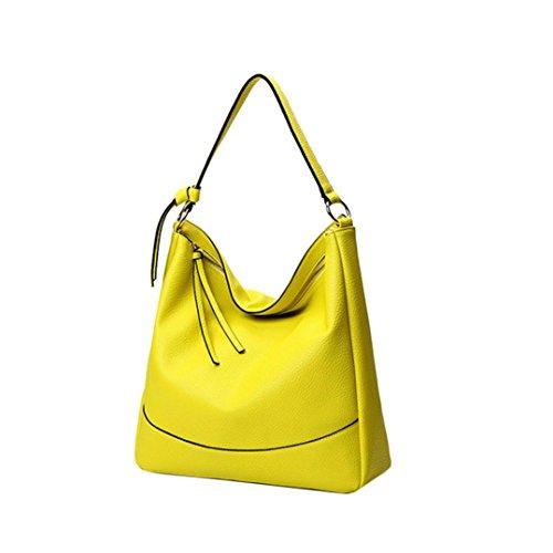 Longra Donna in pelle artificiale colore solido Lichee modello lunga corda spalla borsa borsetta Giallo Perfecta En Línea TNzQzx9mjp