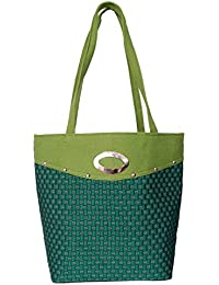 Womaniya Women's Tote Bag (Green-Woman-911)