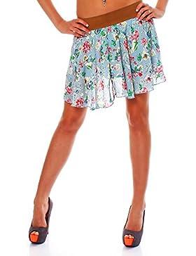 malito verano mini falda tramo midi flores A-línea Mujer Talla Única