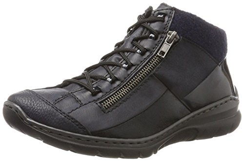 pazifik Sneaker marine L3245 Pazifik navy Blu a schwarz Alto Rieker navy Collo Donna Hf6qwRRC