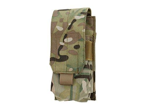 BEGADI Basic MOLLE Single- Magazintasche M4/M16/G36/AUG/SIG550, geschlossen - multiterrain (Pouch M16 Single Mag)