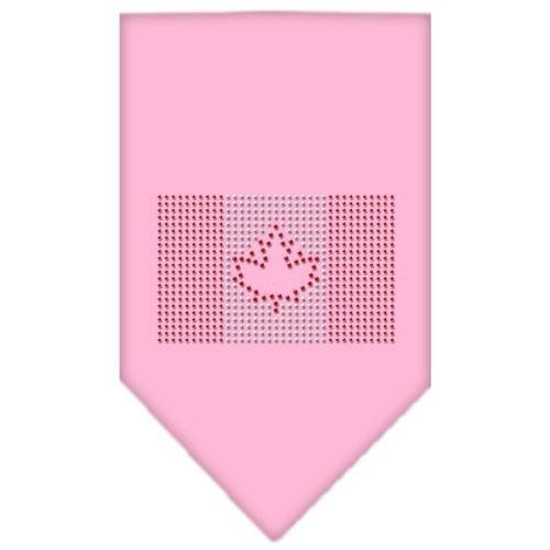 Mirage Pet Products Halstuch, Kanadische Flagge, Strasssteine, klein, Hellrosa -
