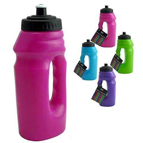 New Plastic Sports And GYM Water Bottle With Handle for easy use on the go - It holds 700 ml Fluid (Pink, Pack of 1 - Sports