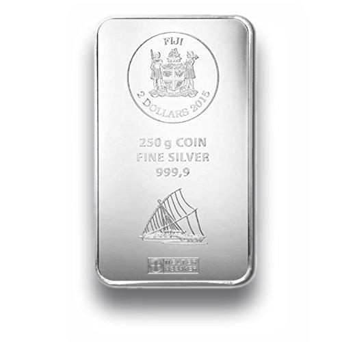 Silberbarren 250g - Fiji Münzbarren - 250g Feinsilber 999.9 - prägefrisch - Silber Münzen Barren