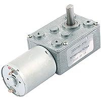 DealMux JSX100-370 Turbina Gusano Reductor Orientado caja de motor de la CC 24V DC 6500rpm / 62RPM