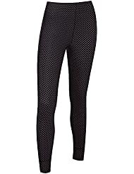 Ladies Unpadded Polka Dot Leggings/Tights - Black/Pink - 18