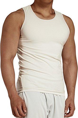 KomPrexx Tank Top Herren Sport Fitness Gym Training Achselshirt für Männer Tanktops Trägershirt Lang (White,M) (Ärmelloses Trainings-shirt)