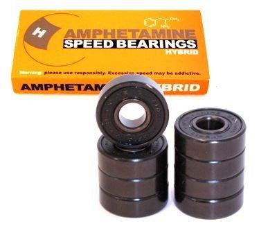 Amphetamines hybrid skateboard ball bearing set (eight bearings)