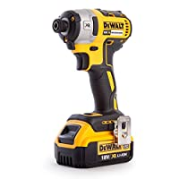 DEWALT DCF887M1-GB XR Brushless Lithium-Ion Impact Driver, 18 V, Yellow/Black, 0