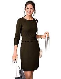 Vestido Escote Redondeado y Manga 3/4 Mujer by Vencastyle - 017990