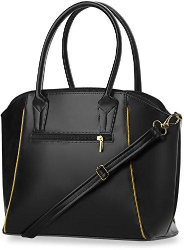 Borsa Da Donna Alla Moda Shopperbag Spazioso Compagno Giornaliero (nero) Nero