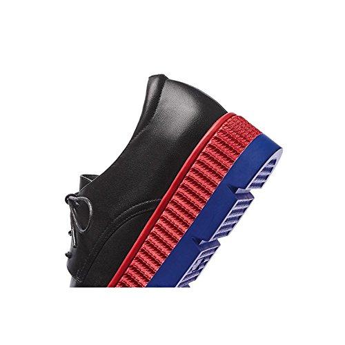 Suola Spessa Piattaforma Donna WSXY-A1109 Tacco Zeppa Serie Creative,KJJDE black
