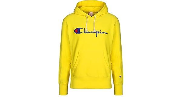 e41d35e50e05b Champion - Sweat-Shirt - Homme Jaune Citronier XX-Large: Amazon.fr:  Vêtements et accessoires