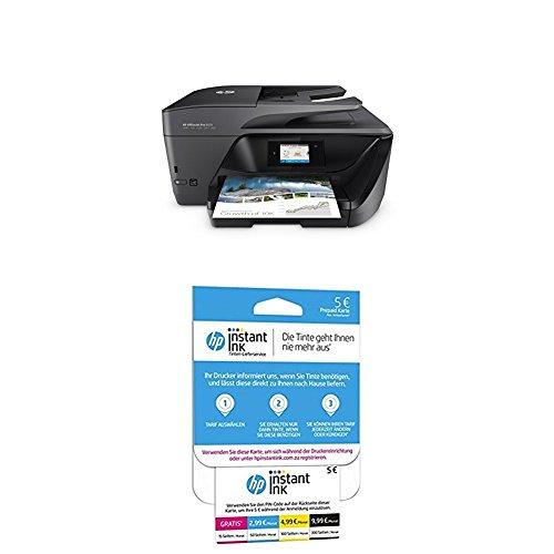 HP OfficeJet Pro 6970 All-in-One Tinten-Multifunktionsdrucker Schwarz + HP Instant Ink Karte (Tarif für 15, 50, 100 oder 300 Seiten pro Monat) -