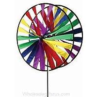 Premier cometas doble rueda gira con el viento (24in)–Arco iris