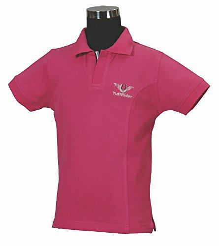 TuffRider Mädchen Polo Shirt Größe L hot pink