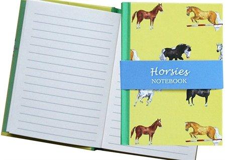 Milly Green Notizbuch, A6, liniert, Pferdemotiv, Gelb -