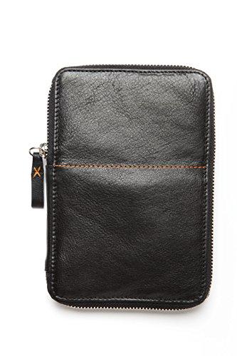 diabag ONE Hochwertige Diabetikertasche für unterwegs aus isolierendem Nappaleder I schlanke Tasche für Insulin Pen - Stechhilfe - Blutzucker Messgerät - Teststreifen I 12 x 17,5 x 2 cm
