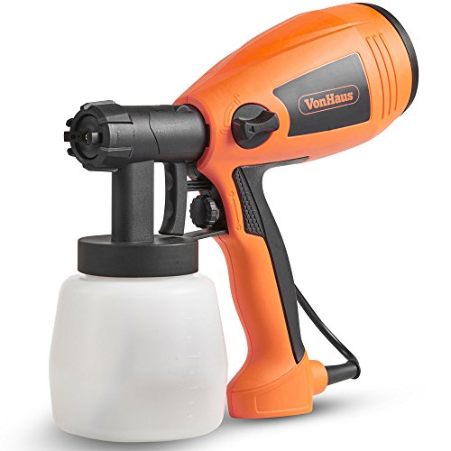 VonHaus 400W Paint Sprayer - Spray Gun for Fencing, Ceilings, Walls, Floors & More - 800ml Cup Capacity, Adjustable Pattern & Flow for Even Coverage