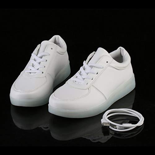 CIOR LED Leuchten Schuhe 11 Farben Flashing Wiederaufladbare Sport Tanzen Turnschuhe für Männer der Männer Jungen Mädchen