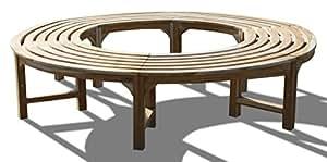 KMH®, 360° Baumbank (Kreis) ohne Rückenlehne aus massivem Teakholz! (#102133)