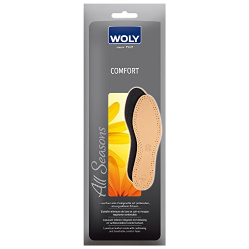 Woly Comfort Leather Insole, Unisex-Erwachsene Komfort Einlegesohle Brown (Tan Leather)