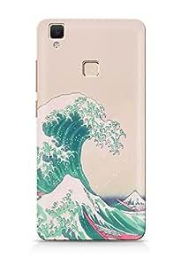 Citydreamz Waves\Tides\Nature Hard Polycarbonate Designer Back Case Cover For Vivo V3 Max