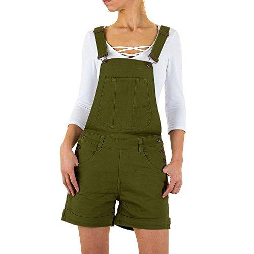Damen Shorts Jeans Latz Grün XL