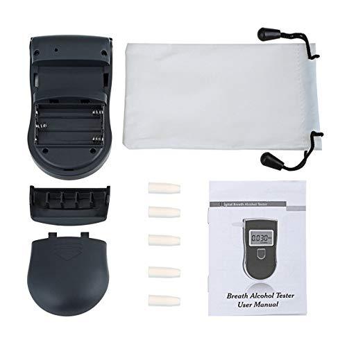 Heaviesk Detector de analizador de alcoholímetro de policía portátil Digital LCD Alcohol Sensor probador...