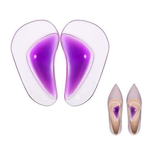 Doact Arch Support Einlegesohlen Passt für Plattfüße und Plantar Fasciitis Orthesen Arch Pads für Frauen und Männer, Gel Hoher Cushion Insert, Einheitsgröße -