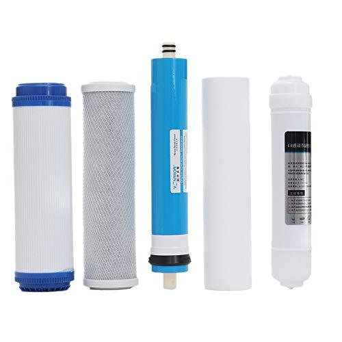 TOOGOO 5 Stücke 5 Stufe Ro Umkehr Osmose Filter Ersatz Wasser Filter Patrone Ausrüstung mit 50 GPD Membran Wasser Filter Kit -