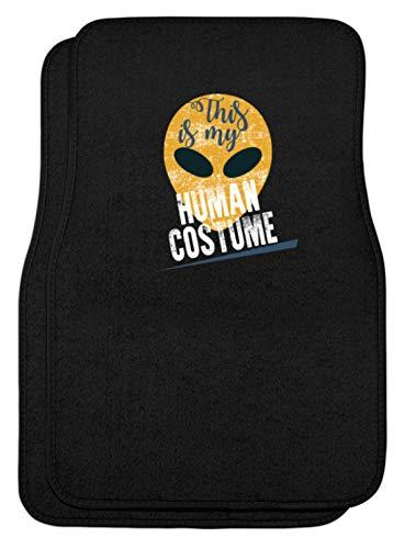 Ein Menschliches Kostüm - SPIRITSHIRTSHOP This Is My Human Costume - Das Ist Mein Menschkostüm, Mensch-Kostüm, Menschliches Kostüm - Automatten -44x63cm-Schwarz
