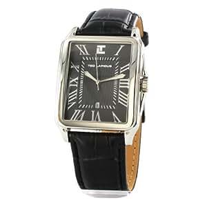 Ted Lapidus - 5113301 - Montre Homme - Quartz Analogique - Bracelet en Cuir Noir