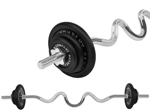 Guss Hantel-Set 25,3Kg (1 x Super SZ-Hantelstange 122cm, 2x1,25, 2x2,5 und 2x5Kg Hantelscheiben) Gewichte Hantelset Scheiben Scheibe