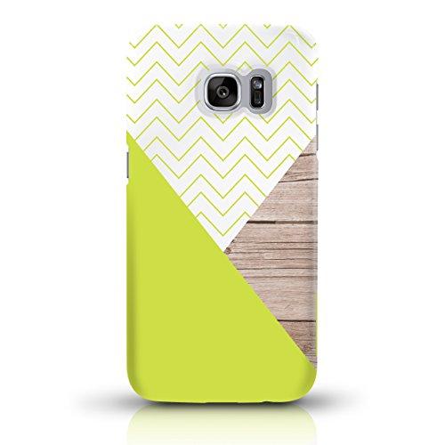 """JUNIWORDS Handyhüllen Slim Case für Samsung Galaxy S7 - Motiv wählbar - """"Anker Design 1 Dunkelblau"""" - Handyhülle, Handycase, Handyschale, Schutzhülle für Ihr Smartphone Chevron Muster"""