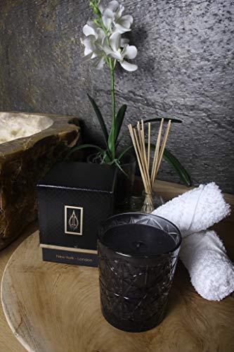 Driada - Glass Lounge Black mit Acryl New York, Duft- / Aromakerze, Glas, für Geschenk, Dekoration und Zuhause -