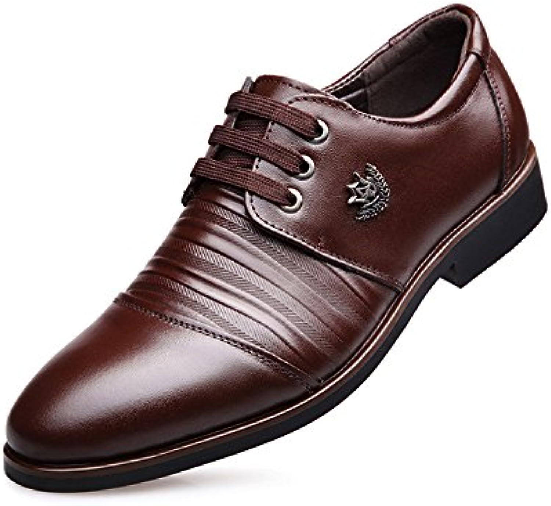 Zapatos De Cuero para Hombres Zapatos De Vestir para Negocios Zapatos con Cordones Work Classic -