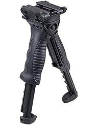 VERY100TPOD - Bípode táctico para rifle, vertical, agarre giratorio, segunda generación