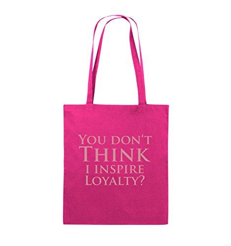 Comedy Bags - YOU DON'T THINK - NARCOS - Jutebeutel - lange Henkel - 38x42cm - Farbe: Schwarz / Pink Pink / Rosa
